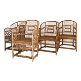 Image of Vintage Brighton Pavilion Style Bamboo Chairs - Set of 4 For Sale