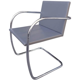Mid-Century Brno Chair in Leather by Mies Van Der Rohe for Knoll For Sale