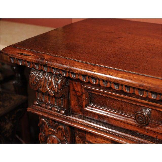 18th Century Italian Baroque Style Walnut Credenza For Sale - Image 4 of 7