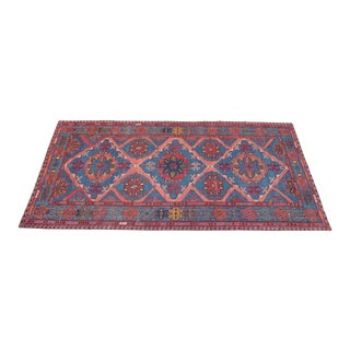 1950 Antique Embroidery Sumak Kilim Rug For Sale