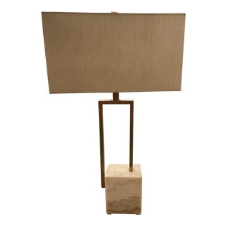 Quartz and Linen Lamp For Sale