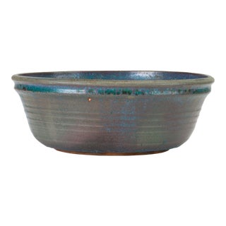 Blue Studio Pottery Serving Bowl For Sale