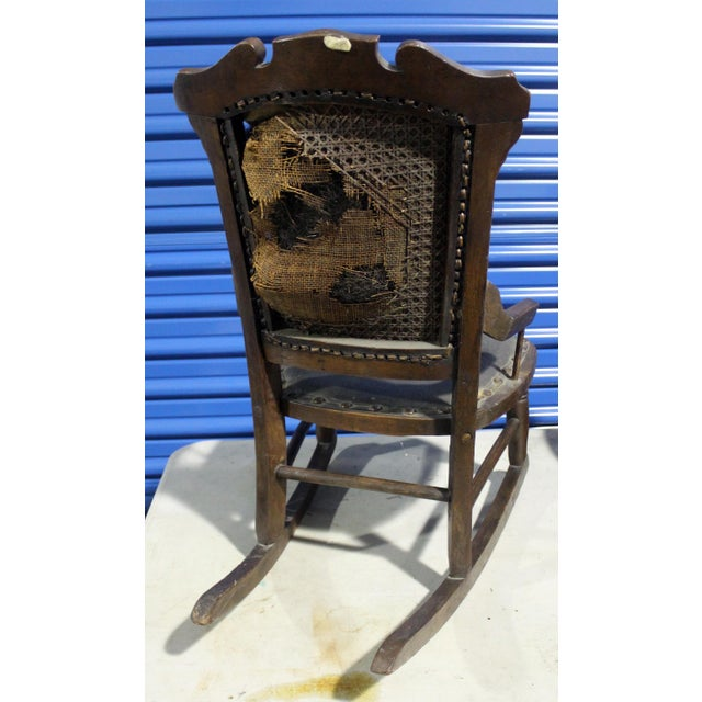 Children's 19th Century Antique Child's Rocking Chair For Sale - Image 3 of 6