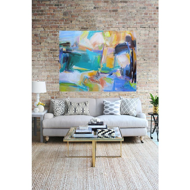 """""""Remembering Bermuda"""" by Trixie Pitts Extra-Large Abstract Oil Painting For Sale In Nashville - Image 6 of 9"""