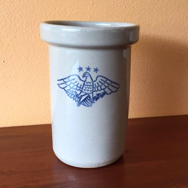 Vintage American Eagle Salt Glaze Crock - Image 3 of 9