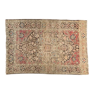 "Antique Farahan Sarouk Rug- 3'2"" X 4'8"" For Sale"