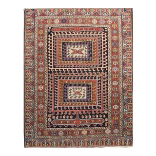Hand Knotted Sherawan Rug - 3′7″ × 4′1″ For Sale