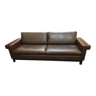 Design Within Reach Leather Sofa by Ted Boerner