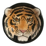 Image of Italian Mid-Century Tiger Face Pottery Bowl/Catchall For Sale