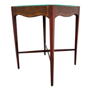Antique French Game Table With Leather Top From John Wanamaker For Sale