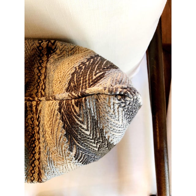 Robert Allen Zigzag Graphite Pillow Cover For Sale In New York - Image 6 of 8