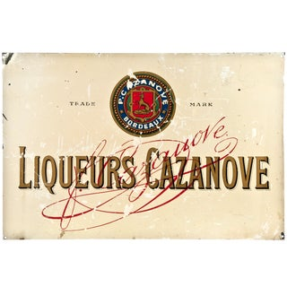 Vintage French 'Casanova Liqueurs' Metal Sign