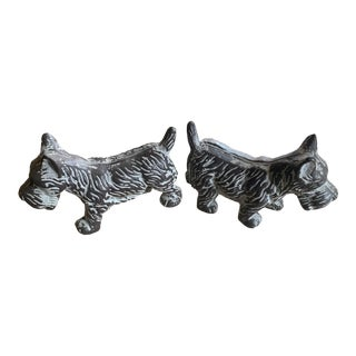 Cast Metal Terrier Bookends - a Pair For Sale