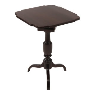 18th Century Federal Mahogany Tilt Top Candle Table Antique For Sale