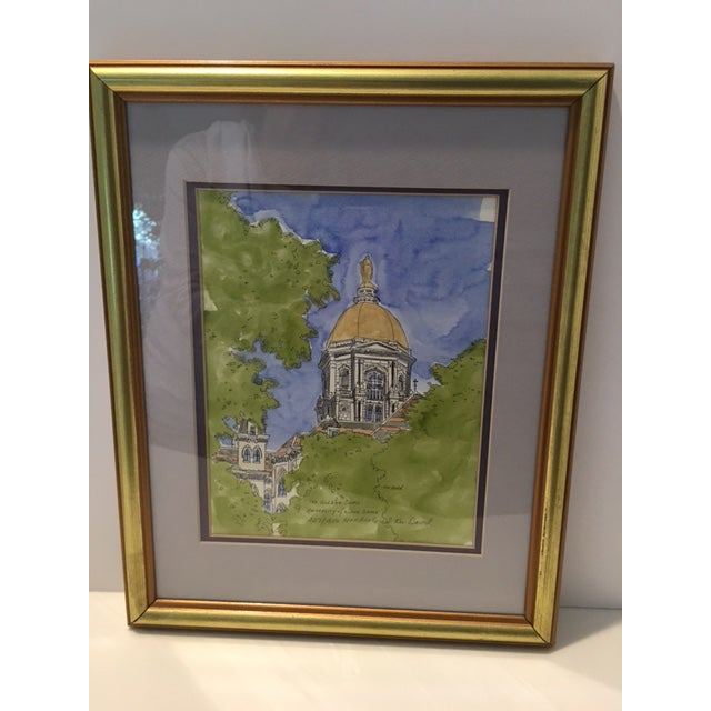 Ken David University Of Notre Dame Golden Dome Drawing