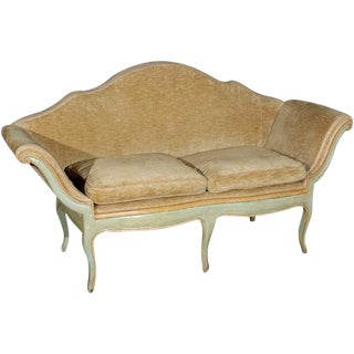 Mid 19th Century Antique Camelback Piedmont Sofa For Sale