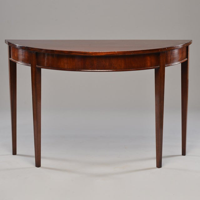 English Mahogany Demi Lune Tables - a Pair For Sale - Image 12 of 13