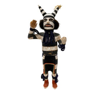 "Vintage 1970s Hopi Katsina Figure ""Hano Clown"" Kachina Doll C.1974 For Sale"