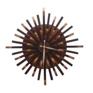 Reclaimed Wine Barrel Art Wall Clock For Sale