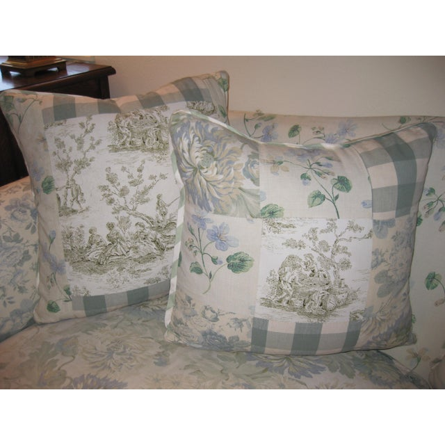 Blue JM Paquet Floral Sofa For Sale - Image 8 of 9