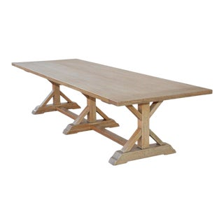 Petersen Antiques White Oak Farm Table For Sale