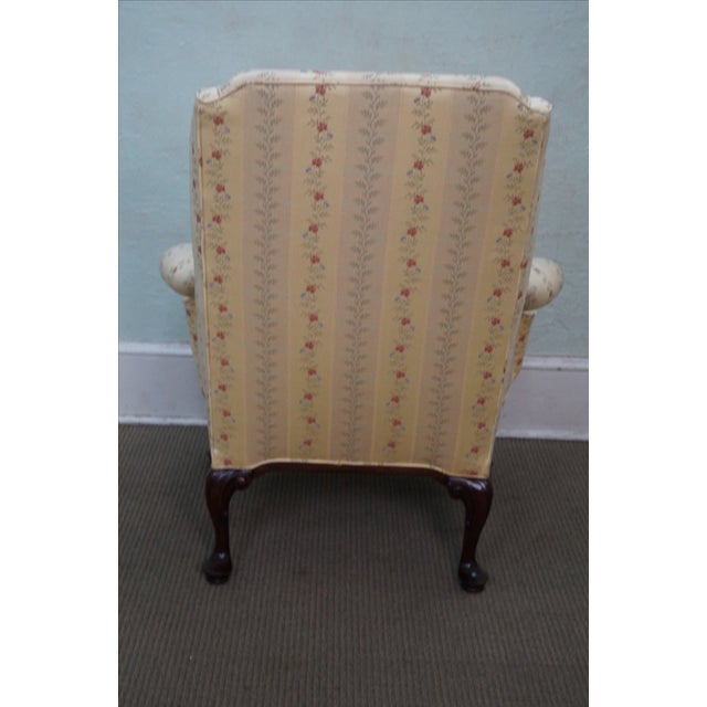 Queen Anne Style 18th Century Wing Chair - Image 4 of 10