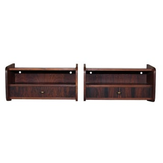 Pair of Mid Century Rosewood Night Stands For Sale