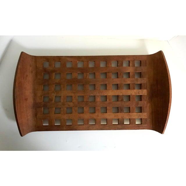 1960s 1960s Vintage Jens Quistgaard Dansk Mid-Century Teak Lattice Tray For Sale - Image 5 of 6