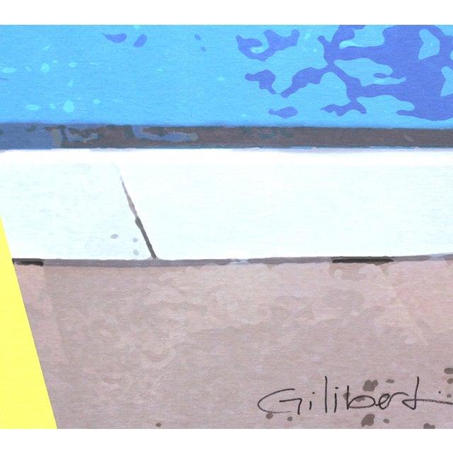 """Swimming Pool"" Acrylic Painting by Michael Giliberti - Image 4 of 10"