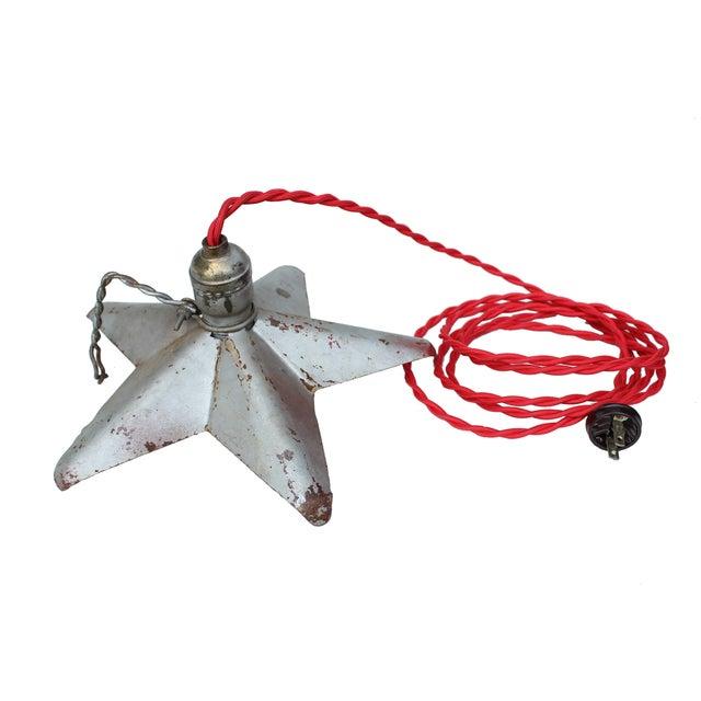 Aluminum Star Pendant Light - Image 2 of 4