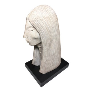 1980s Austin Productions Acoma Abstract Woman Sculpture For Sale