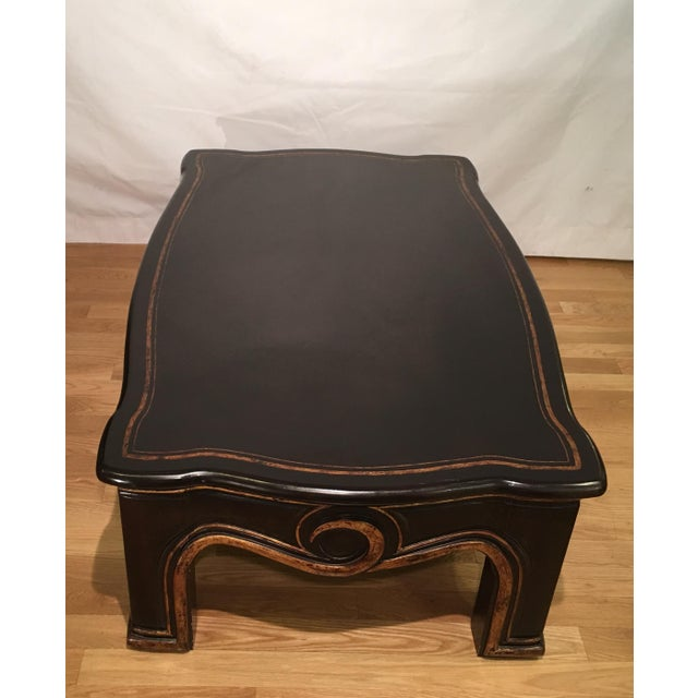 2000s Gregorius Pineo Black & Gold Morrison Coffee Table For Sale - Image 5 of 6