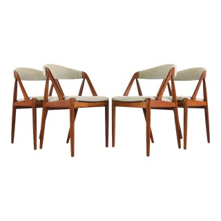 Kai Kristiansen No. 31 Chairs in Teak - a Set of 4 For Sale