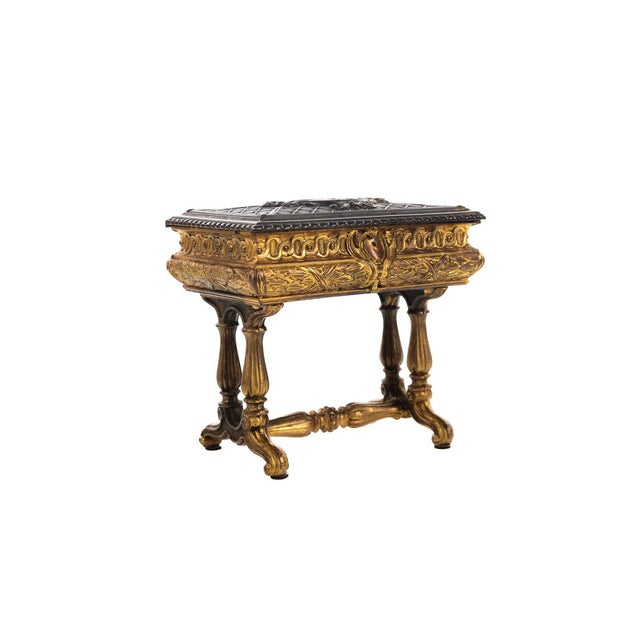 19th century Antique Gilt Bronze Jewelry Box- Miniature Sawing Box - Image 2 of 9