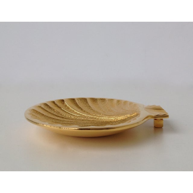 Gold Plated Fanned Shell-Shape Ring Dish - Image 5 of 11