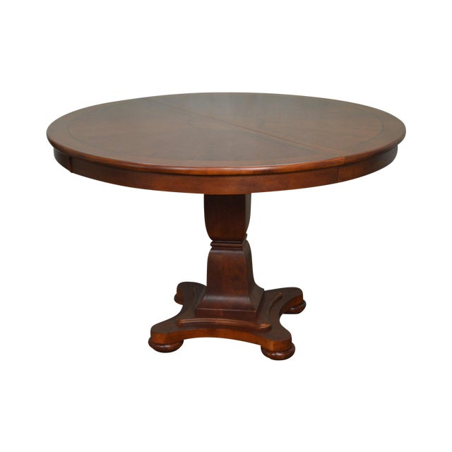 Lexington 48 round cherry empire style dining table w for 48 dining table with leaf