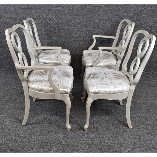 French Country French Country Louis XV Style Dining Chairs- Set of 4 For Sale - Image 3 of 13