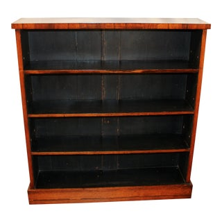 C. 1840s English Rosewood Bookcase For Sale