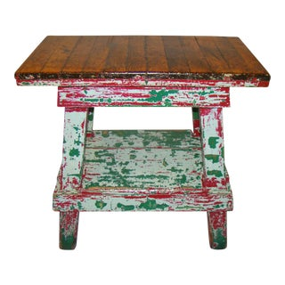Vintage Factory Work Table