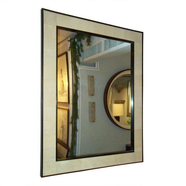 Custom Rectangular Shagreen Mirror For Sale In New York - Image 6 of 6