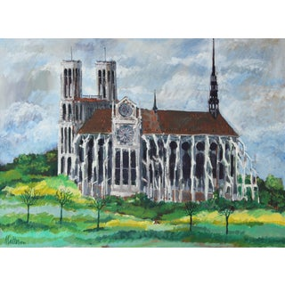 Rip Matteson French Countryside Cathedral, Oil on Linen, 1971 1971 For Sale