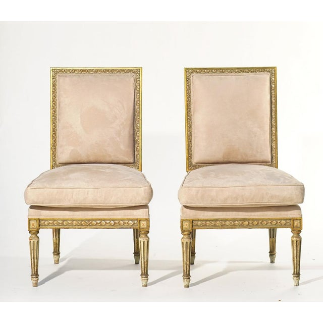 Late 19th Century 19th C. French Giltwood Chairs - a Pair For Sale - Image 5 of 5