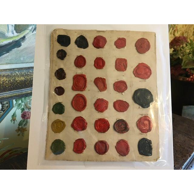 English Antique English Multi Color Intaglio Wax Seals For Sale - Image 3 of 13