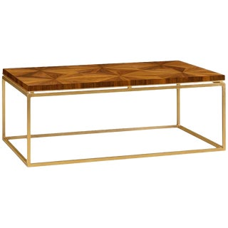 Mid Century Modern Walnut Bookmatched Coffee Table For Sale