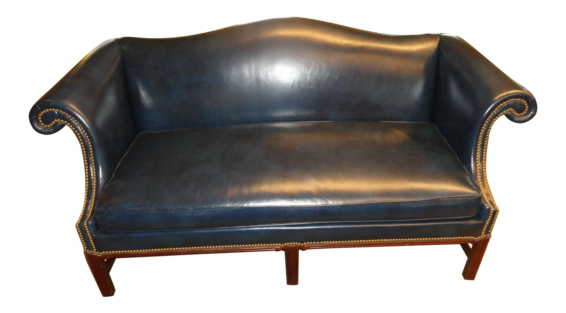 Hickory Chair Co. Leather Settee