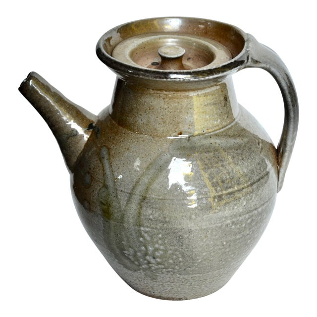 Studio Pottery Large Pitcher, Style of Winchcombe Pottery For Sale