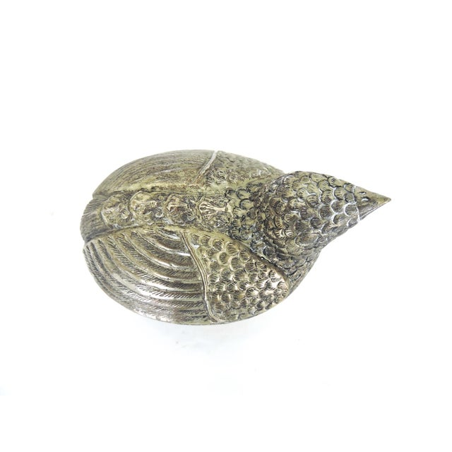 Vintage South East Asian Silver Bird Catchall/Box For Sale - Image 4 of 7