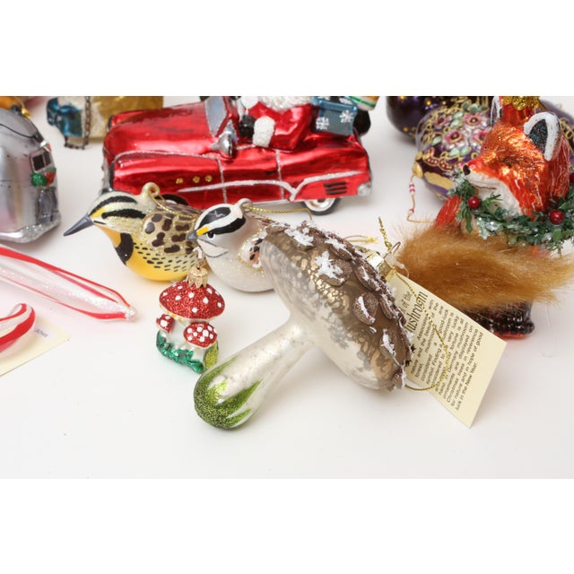 Hand Blown Glass Christmas Ornaments - Set of 23 - Image 10 of 11