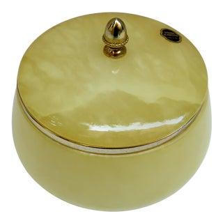 Italian Alabaster Lidded Bowl For Sale