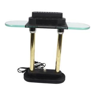 Mid Century Modern Robert Sonneman George Kovacs Glass Metal Table Desk Lamp For Sale